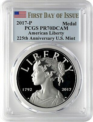 2017-P American Liberty Silver Medal PCGS PR70DCAM First Day of Issue