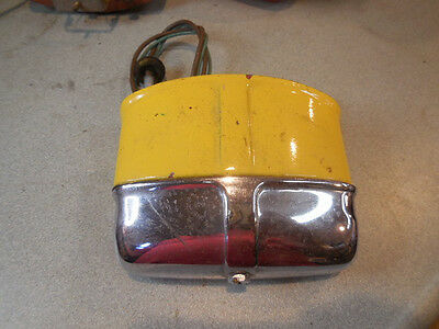 Mg Midget Factory Rear License Plate Light Mount With Chrome Cover
