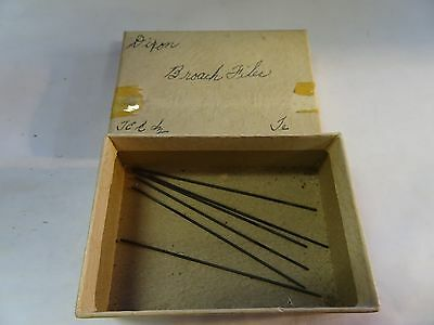 Watchmaker Lot of Six FINE FILES...WATCH AND CLOCK MAKERS TOOLS Broach Files