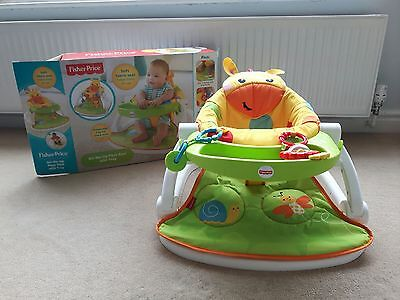 Fisher Price Giraffe Sit Me Up Floor Seat With Tray Sit-Me-Up - HARDLY USED!!