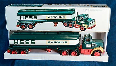 Excellent 1977 Hess Toy Tanker Truck in Original Box with Inserts, Lights Work