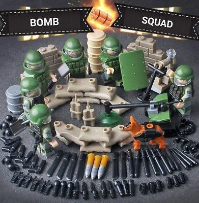 Army, Swat Bomb squad Minifigures- Compatible with Lego