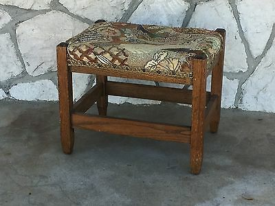 Stickley Style Mission Arts And Crafts Oak Footstool Ottoman