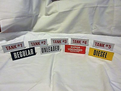 9 Small Painted Metal Gas Flange Signs