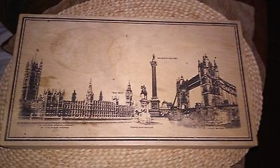 Vintage Walkers Chocolate Wooden Candy Box Of England
