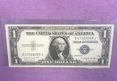 Series 1935G $1 Dollar Silver Certificate Blue Seal Note