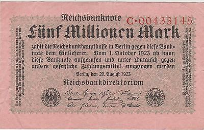 Germany 1923 5,000,000 Million Marks # C00433145