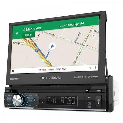 """Soundstream VRN-74HB 1 DIN Flip Up DVD/CD/MP3 Player 7"""" GPS Bluetooth Android"""