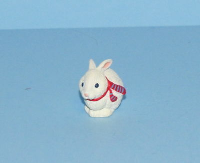 Hallmark Merry Miniatures Christmas 1993 Bunny With Scarf Mini