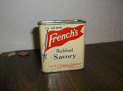 Vintage French's RUBBED SAVORY Spice Tin