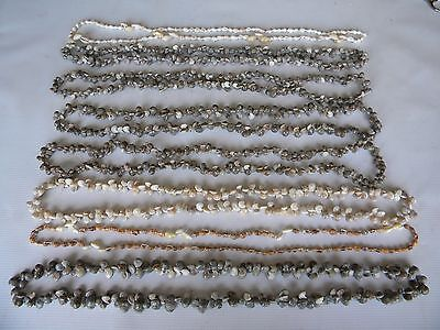 8 Vintage Small Snail Conch Lei Sea Shell Necklaces