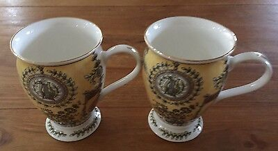 Queens Bone China  2 X Mugs New Condition!