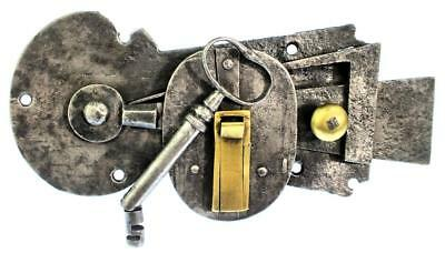Solomon Henry Type Night Latch Lock with Key - Pivoted Tip c.18th/19th Century