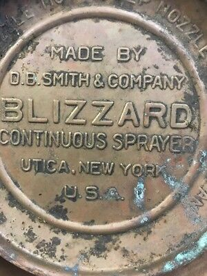 Vintage Blizzard Continuous Sprayer Insect-Bug Killer Copper Brass C2 *