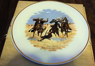 """AIDING A COMRADE"" ~ REMINGTON FINE CHINA PLATE ~ Distinguished Gift Collection"