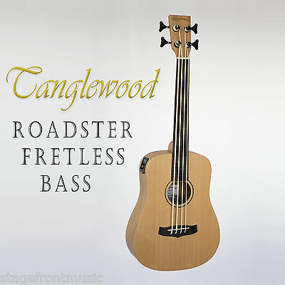 Tanglewood Trbe Roadster Acoustic/electric Traveller Fretless Bass Guitar