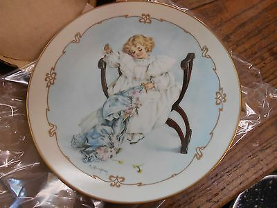 vtg Hamilton Little Ladies plate collectors plate The Seamstress girl sewing
