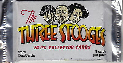 THE THREE STOOGES - Collector Cards Factory Sealed Packs (14) by DuoCards #NEW
