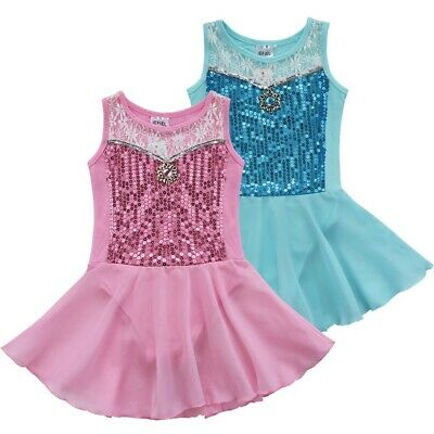 Sequins Girl Gymnastics Leotard Princess Ballet Tutu Skirt Dance Dress Dancewear