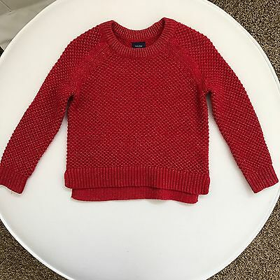 Baby Gap Baby Toddler Girl Red Long Sleeve Sweater 18-24 Months