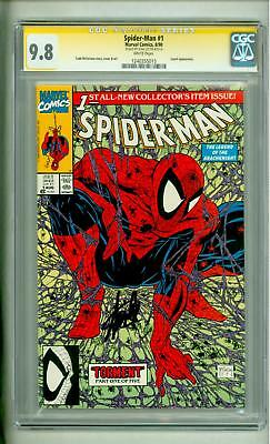 Spider-Man #1 Cgc 9.8 Torment 1990 Ss Stan Lee Signed