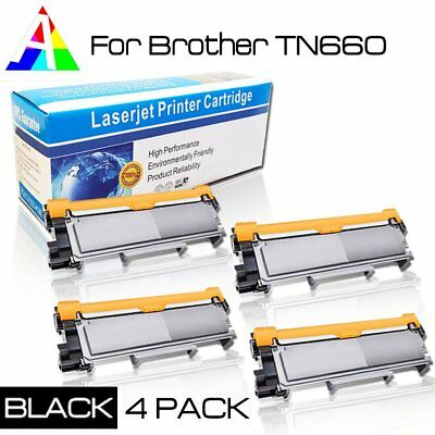 4 PK High-Yield TN660 Toner Compatible TN630 For Brother DCP-L2540DW Lots Black