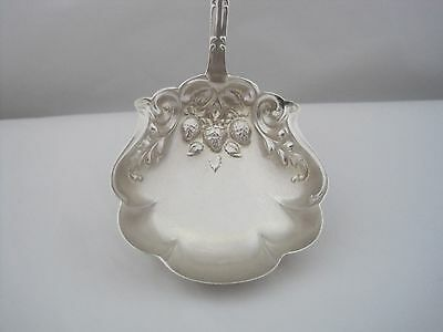 Sterling Silver Strawberry's In Bowl Of Serving Ladle
