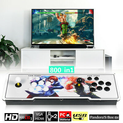 800 Games HD TV Jamma Arcade Console Double Stick Joystick LED For Pandora Box