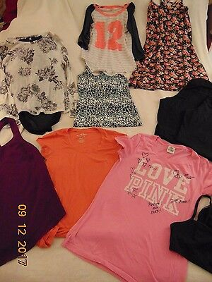 Women's/Juniors Clothes Lot Sz Small 17 pc tops,t's,lounge pants,hoodie Sz Small