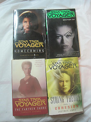 Lot of 4~Star Trek Voyager series~Shore Homecoming Cohesion Shadow~LBDPE