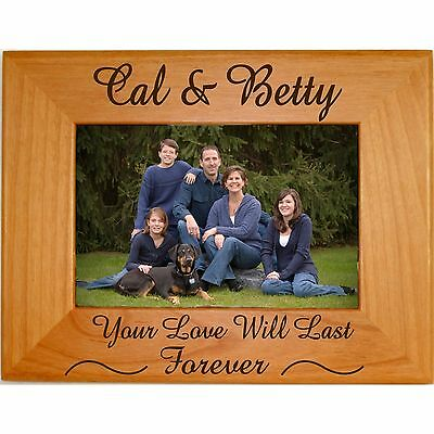 PERSONALIZED FAMILY WOOD Picture Frames 4x6 5x7 8x10 Custom Engraved ...