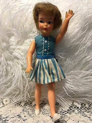 "Ideal Toy Corp Vintage 1960's "" Pepper"" G9W Doll Shoes Skirt Tammy Family G9W"