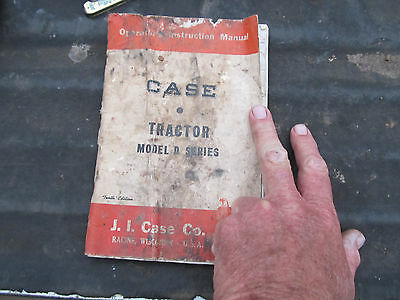 Vintage Case Tractor Model D Series Owners Instruction Manual Service 1951