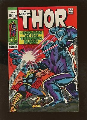 Thor 170 NM 9.2 * 1 Book Lot * Warriors Three & Thermal Man!!!