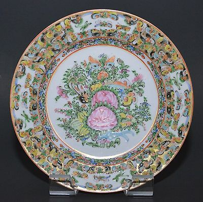 "Chinese Export 1000 Thousand Butterfly 9 3/4"" Porcelain Plate"