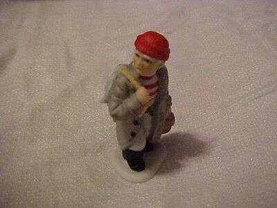 1996 Lefton Colonial Village Figurine Fisherman