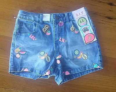 Brand New Girls Shorts Size 10-adjustable waist