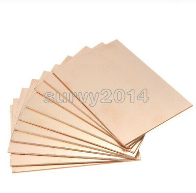 1/2/5/10PCS 10*15CM FR4 1.5MM Thickness Single PCB Copper Clad Laminate Board