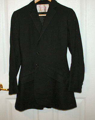 RIPPES EQUESTRIAN JACKET BLAZER Black Women's Vintage Rare Wool Lined