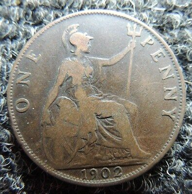 GREAT  BRITIAN        1902    Large Cent       Fine         Great Collector Coin