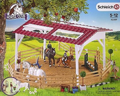 Schleich Horse Club Riding School with Riders and Horses 42389