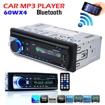 LCD Screen Bluetooth Car Stereo MP3/USB/SD/AUX-IN FM Radio CD Player Amplifier