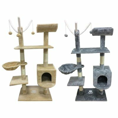 TOP Cat Tree Activity Centre Scratcher Scratching Post Pet Toys Play 153cm 5FT