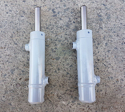 Double Acting Hydraulic Ram Cylinder 53mm Stroke 16mm Rod 217mm Compressed