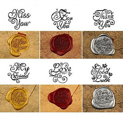 Vintage Handle Pattern Stamp Wooden Wax Seal For Wedding Invitation 2017 New