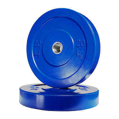 POWER MAXX 20kg Bumper Plate // Olympic Weights Rubber Lifting Training