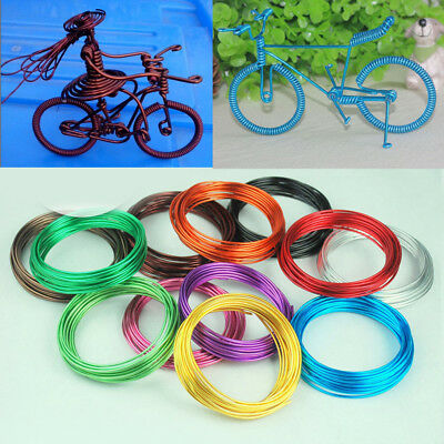 1 Roll 5M Colorful Aluminum 1mm Wire Craft Beading Jewelry Making Wrap Art DIY