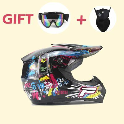 MotoCross Racing Helmet Xtreme Sports Off Road for ATV Dirt Bike With Gift PM