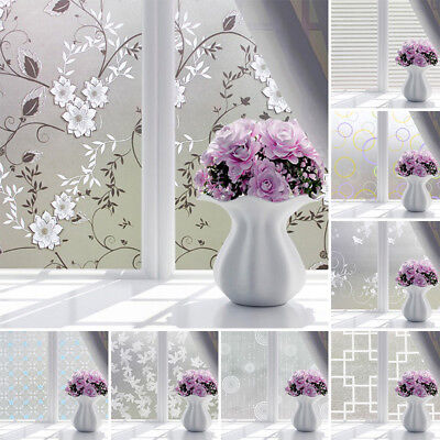 PVC Frosted Glass Window Privacy Self Adhesive Film Sticker Bathroom Bedroom