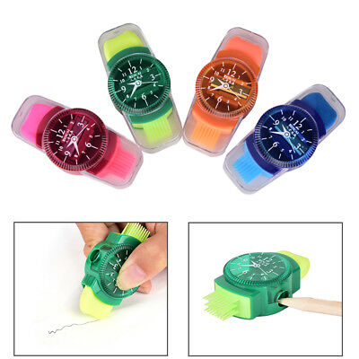 Watches Sliced Pencil Sharpener With Erasers Brush for Office School Supplie UK